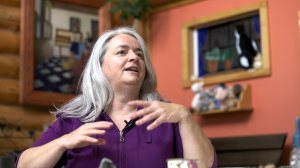 Cynthia Dow, climate activist from New Richmond on the Chaleur Bay