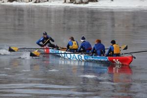 ice canoe, ice canoeing, UQAR, Quebec, Québec, canoe, winter, sport, winter sport