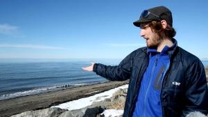 coastal erosion high tide storm surge David Didier UQAR
