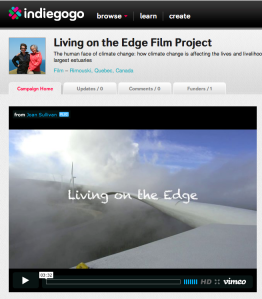 Living on the Edge crowd source funding page Indiegogo